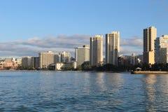 檀香山,威基基海滩 免版税库存图片