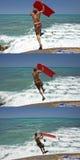 檀香山,美国- 2014年8月, 14 -人们获得乐趣在夏威夷海滩 免版税库存照片