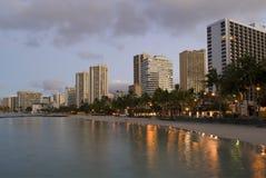 檀香山Waikiki日出 库存照片