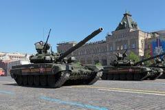 90次争斗t坦克 库存图片