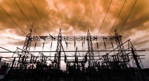 次级驻地115/22 kV室外类型 库存照片