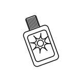 次级bronzer瓶 向量例证
