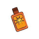 次级bronzer瓶 库存例证
