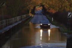 2014次英国洪水 库存照片