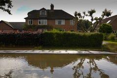 2012次英国洪水 库存照片
