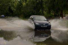 2012次英国洪水 免版税库存图片