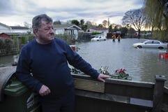 2012次英国洪水Chertsey 图库摄影