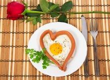 欢乐一顿早餐在情人节 免版税库存图片