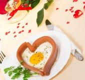 欢乐一顿早餐在情人节 免版税库存照片