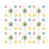 欢乐五颜六色的无缝的样式 库存图片
