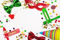 欢乐党、狂欢节或者普珥节假日背景 免版税库存照片