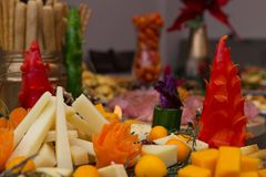 欢乐党食物显示 图库摄影