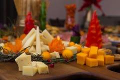 欢乐党食物显示 库存图片