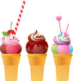 欢乐冰淇凌 免版税库存照片