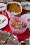 欢乐午餐桌 库存图片