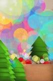 欢乐圣诞树设计 免版税库存图片