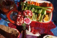 欢乐圣诞节午餐 库存图片