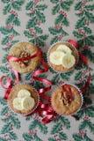 欢乐圣诞节松饼 库存照片