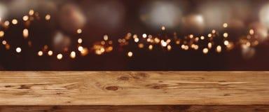 欢乐圣诞节的抽象bokeh背景 免版税库存图片