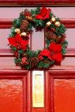 欢乐圣诞节花圈 免版税库存照片