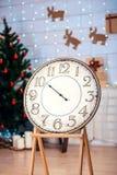 欢乐圣诞节葡萄酒watches04 免版税库存照片