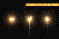 欢乐圣诞节闪烁发光物装饰照明设备元素 免版税库存照片
