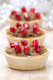 欢乐开胃菜-与肝泥的果子馅饼 免版税库存图片