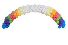 欢乐弧的气球 免版税库存图片