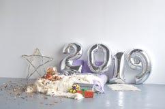 欢乐新年的结构的2019年 库存图片
