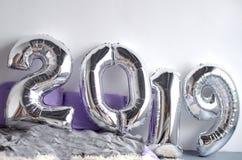 欢乐新年的结构的2019年 免版税库存图片