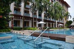 欢乐旅馆圣淘沙游泳池  库存图片