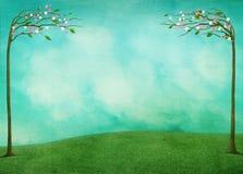 欢乐春天复活节背景