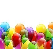 欢乐气球真正的透明度 也corel凹道例证向量 图库摄影