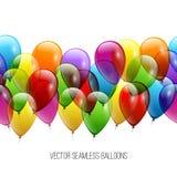 欢乐气球真正的透明度 10 eps例证盾向量 库存图片