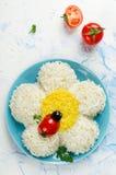 欢乐沙拉形状的春黄菊 图库摄影