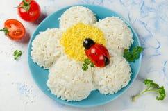 欢乐沙拉形状的春黄菊 库存照片