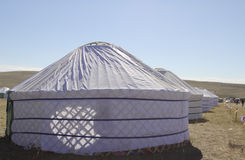 欢乐游牧人s帐篷 免版税库存图片