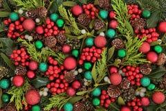 欢乐背景的圣诞节 免版税库存图片