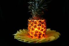 欢乐菠萝 图库摄影