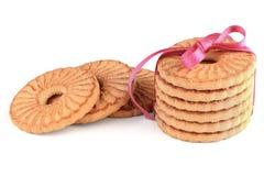 欢乐被包裹的圆环饼干 免版税库存照片