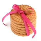 欢乐被包裹的圆环饼干 免版税图库摄影