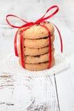 欢乐被包裹的巧克力自创曲奇饼 免版税图库摄影