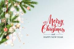 欢乐轻的圣诞节模板 向量例证