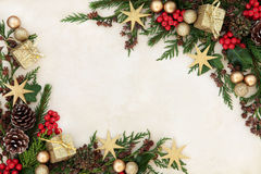 欢乐边界的圣诞节 免版税库存图片