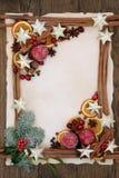 欢乐边界的圣诞节 免版税库存照片