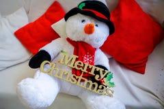 欢乐雪人 圣诞节玩具 库存图片