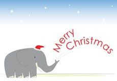欢呼圣诞节大象s先生 图库摄影