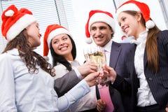 欢呼圣诞节 免版税库存照片
