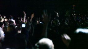 欢呼的人群在竞技场 影视素材