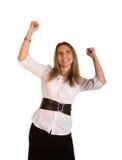欢呼的女性 免版税库存图片